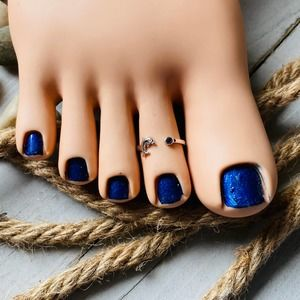 Sterling Silver Dolphin Cz Toe Ring